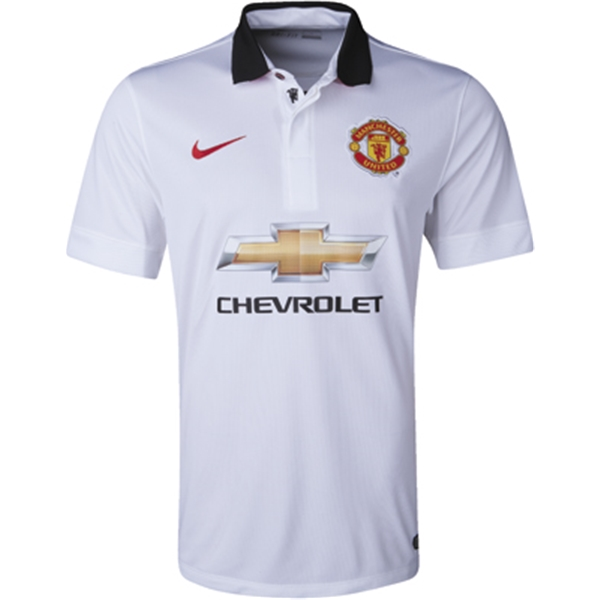 more photos c9e40 46555 Manchester United Youth Away Jersey - White | Soccer ...