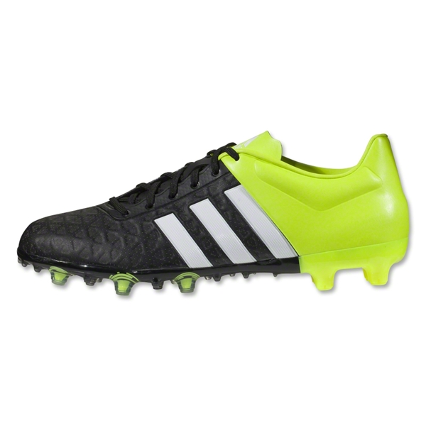 get cheap e9a47 5cde5 adidas ACE 15.2 FG/AG Soccer Cleat- Black/White/Solar Yellow | Soccer  Unlimited USA