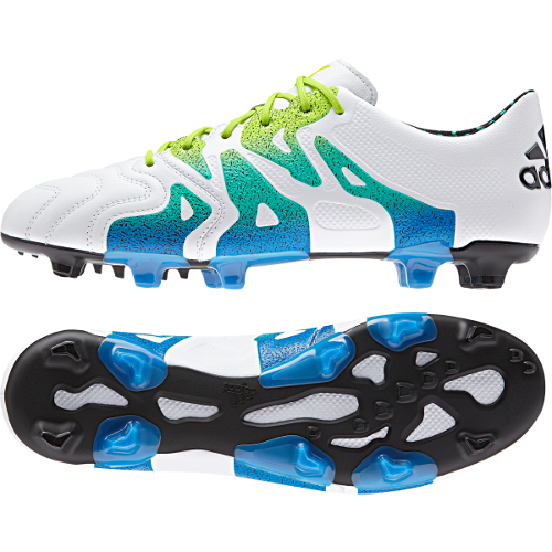 94541deff adidas X 15.1 Leather FG/AG Soccer Cleat- White | Soccer Unlimited USA