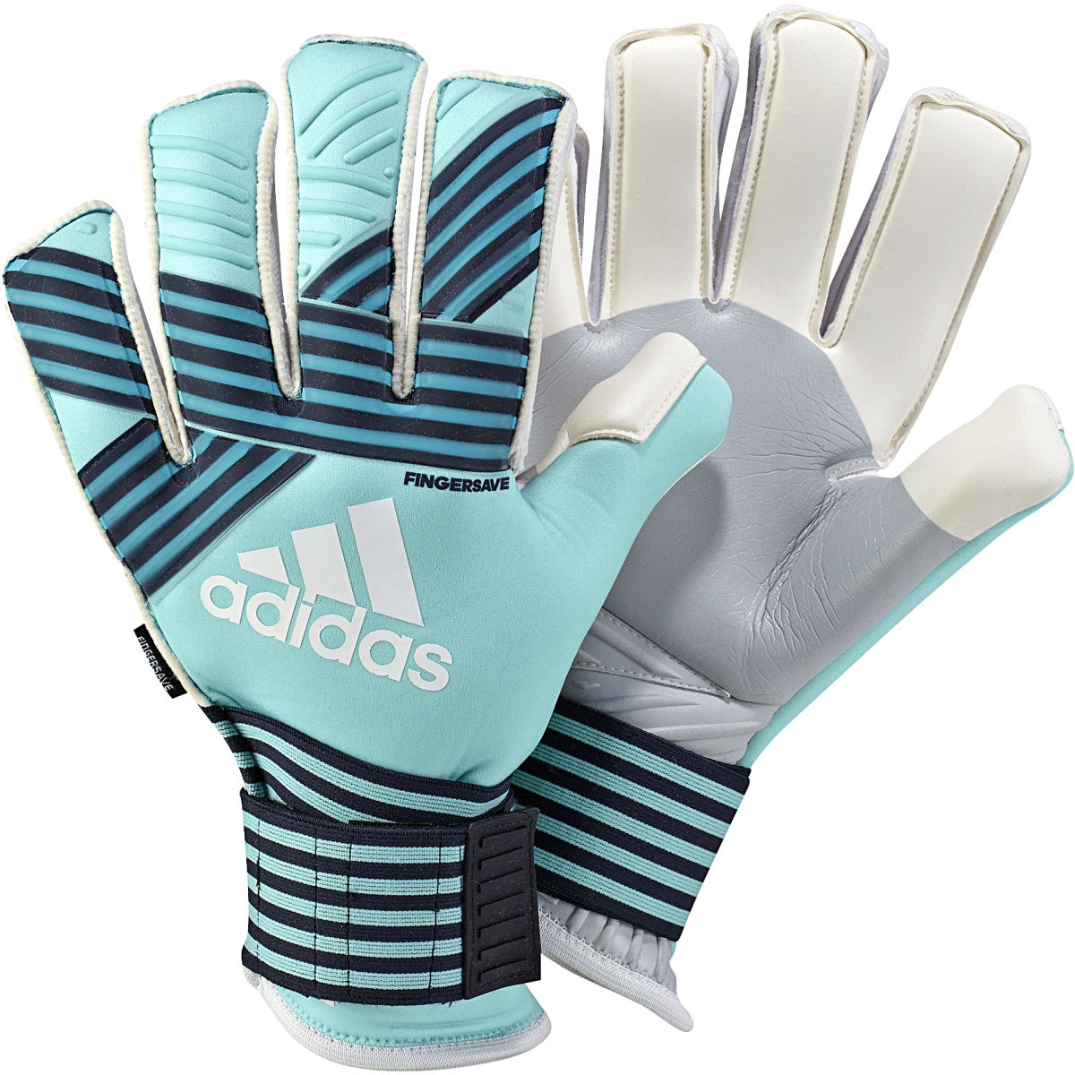 watch de00f 83096 adidas Ace Trans Fingersave Pro GK Glove - Aqua Blue ...