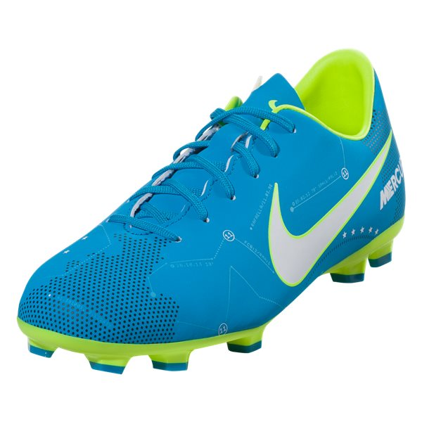 new style 77c67 b09a6 Nike JR Mercurial Victory DF NJR FG Soccer Cleat- Blue/Volt