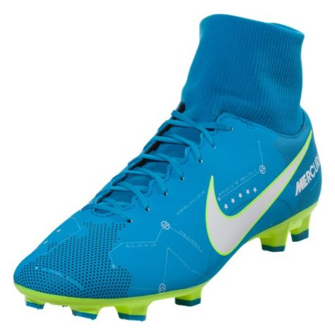 check out 66749 94f66 Nike Mercurial Victory VI DF NJR FG Soccer Cleat - Blue/Volt ...