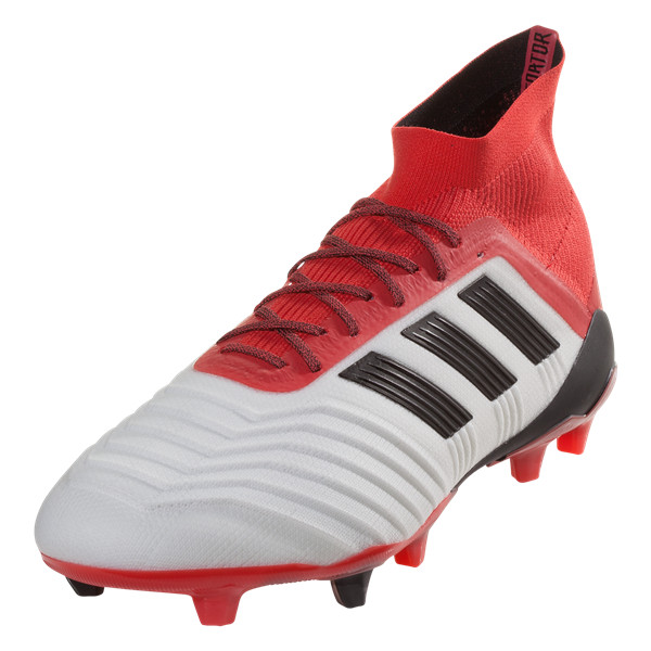 fin de semana Silla Deflector  adidas Predator 18.1 FG Soccer Cleat- Ftwr White/Core Black/Real Coral |  Soccer Unlimited USA