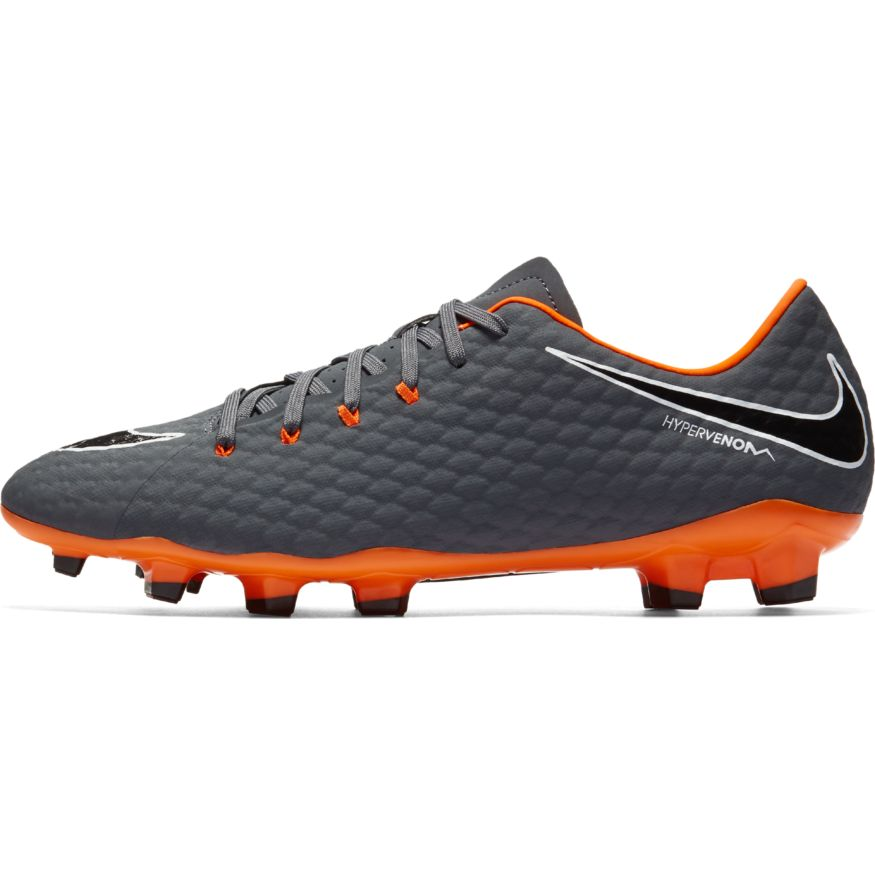 a7614eadcceed Nike Hypervenom Phantom 3 Academy FG Soccer Cleat- Dark Grey/Total Orange |  Soccer Unlimited USA