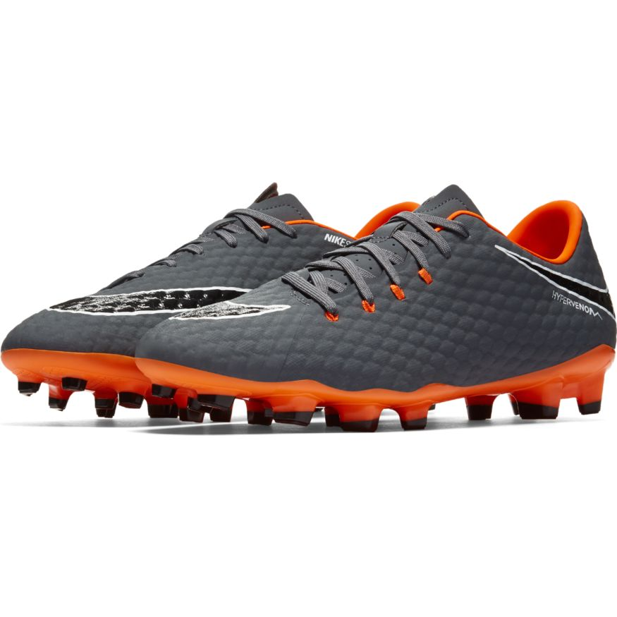 new concept 259f9 6e61c Nike Hypervenom Phantom 3 Academy FG Soccer Cleat- Dark Grey/Total Orange