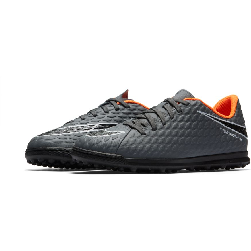 faf99705e3e Nike Jr. Hypervenom PhantomX 3 Club TF - Dark Grey Total Orange ...