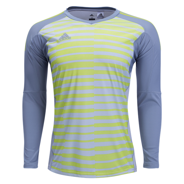 716cb0394 adidas AdiPro 18 GK Jersey Longsleeve Youth - Light Grey Semi Solar Yellow