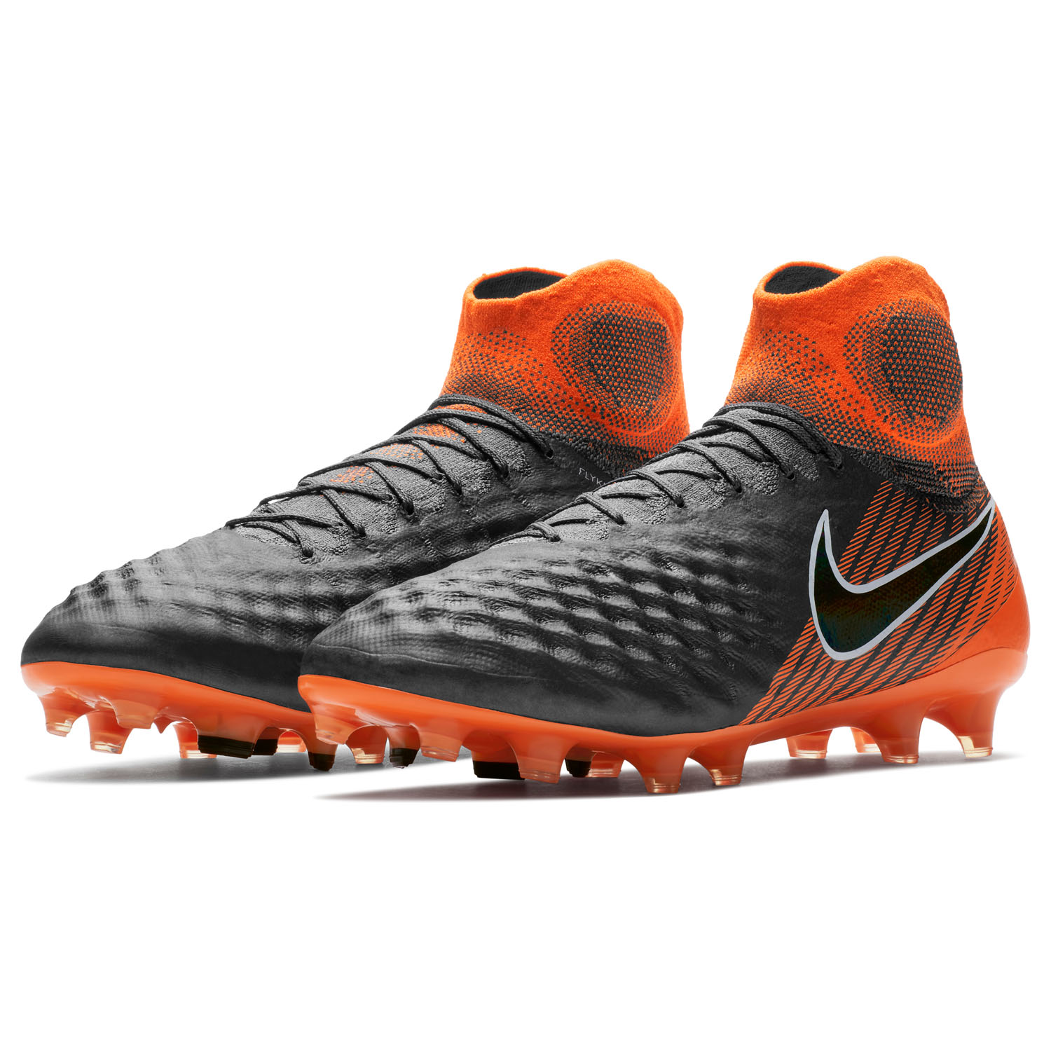 8dbf4dfba44b Nike Obra 2 Elite Dynamic Fit FG Soccer Cleat – Dark Grey/Black/Orange