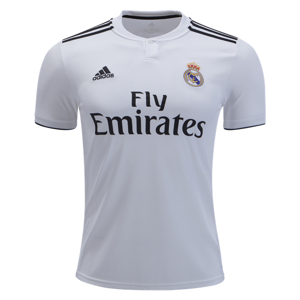 adidas Real Madrid Home Jersey Youth - White/Black