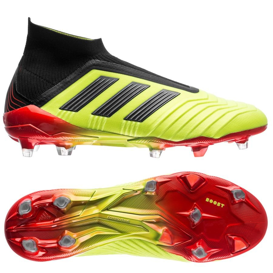 a21ba9bb8df adidas Predator 18+ FG Soccer Cleat- Slime Yellow Core Black Solar Red