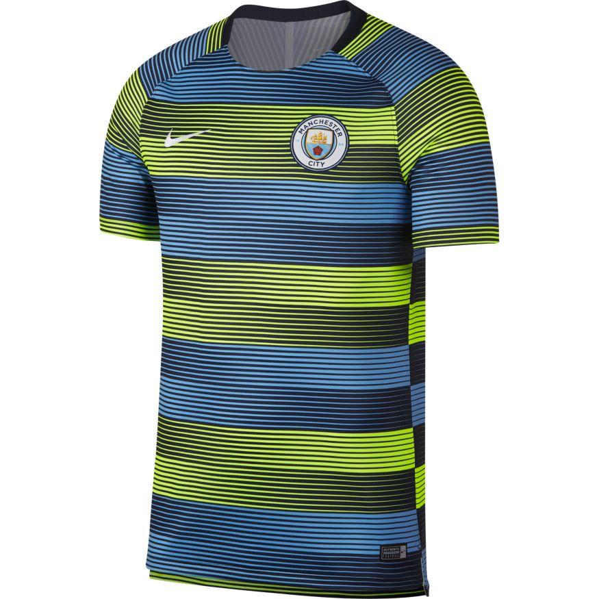 b5edca28648cd Nike Manchester City DR Squad Training Top – Volt/Field Blue. Sale!