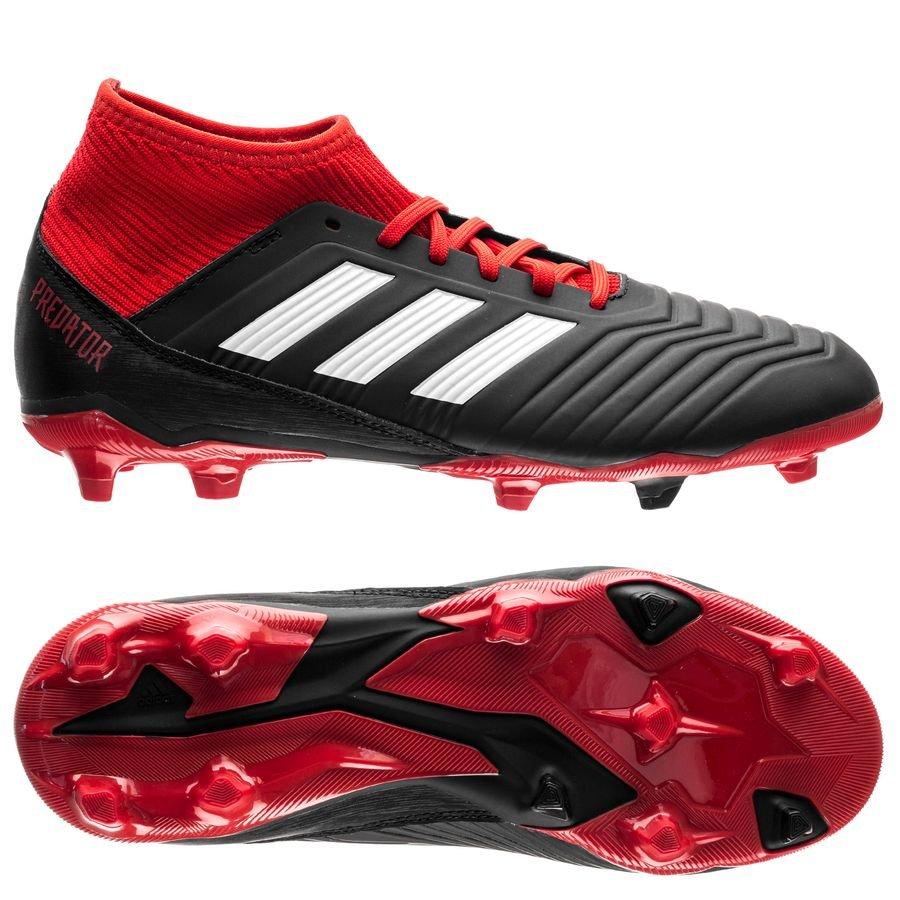 5a08f21c676 adidas Predator 18.3 FG Soccer CleatJ – Black/White/Red