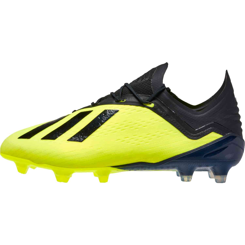 Adidas X 18 1 Fg Soccer Cleat Solar Yellow Black White
