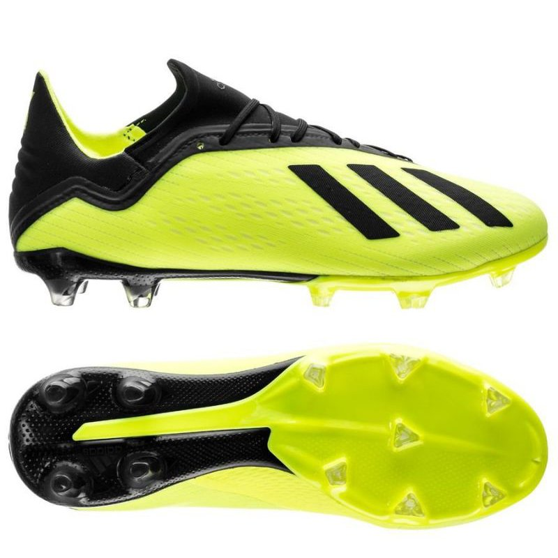 best service reputable site sale adidas X 18.2 FG Soccer Cleat- Solar Yellow/Black/White