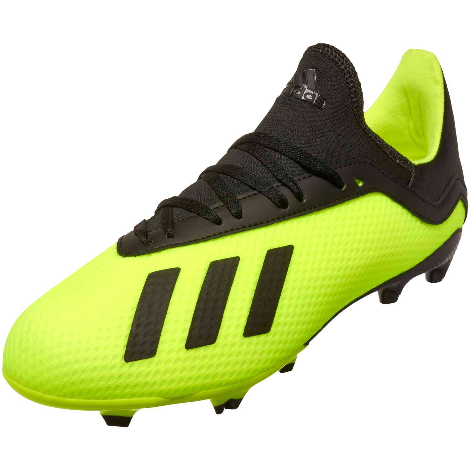 uk availability 75682 9b5f6 adidas X18.3 FG Soccer CleatJ - Solar Yellow/Black | Soccer ...