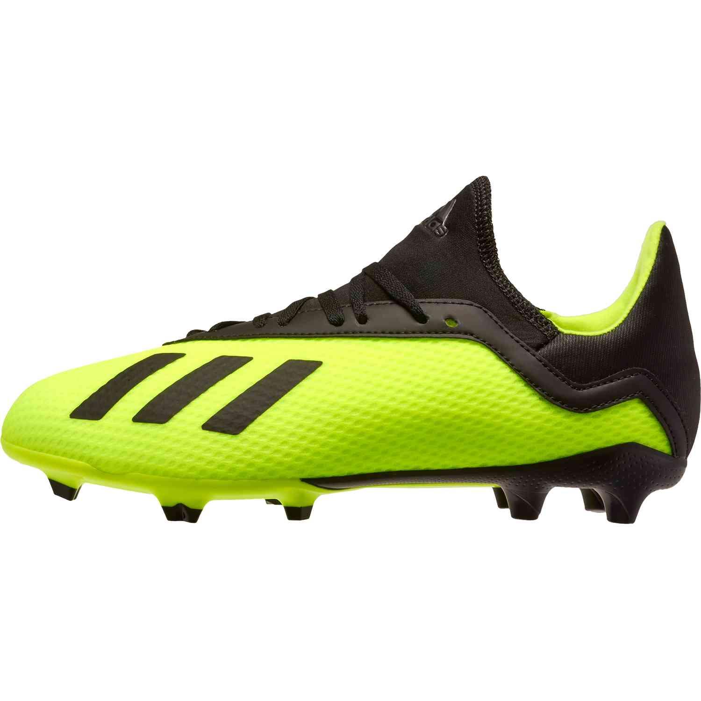 uk availability 62fc4 0ce85 adidas X18.3 FG Soccer CleatJ - Solar Yellow/Black | Soccer ...