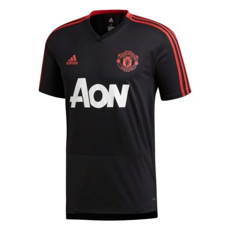 6235240bc adidas Manchester United Training Jersey - Black Blaze Red Core Pink ...