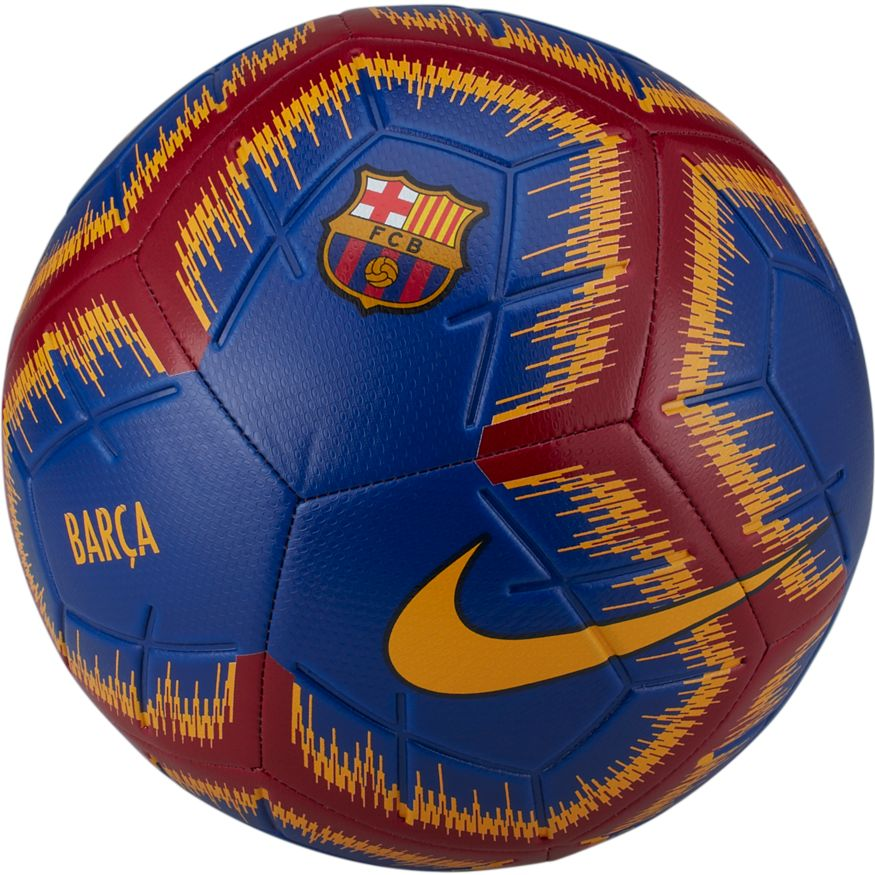 5def124439d FC Barcelona Nike Strike Soccer Ball - Deep Royal/University Gold ...