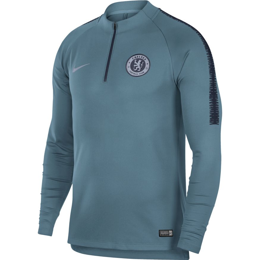 new style fcfc6 92377 Nike Chelsea FC Squad Men's Drill Top - Celestial Teal/Obsidian
