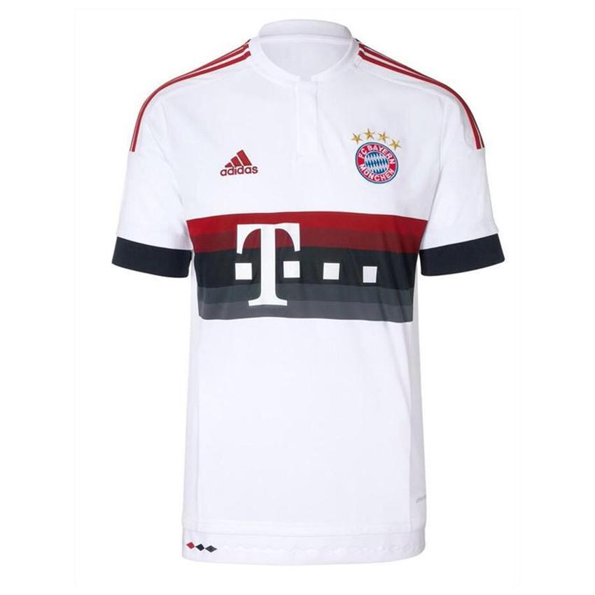 online retailer 8ace9 01709 adidas Bayern Away Jersey Mens - White/Red