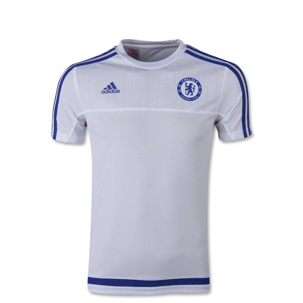 promo code 8d563 211d4 adidas Chelsea Training Top Mens - White/Royal Blue