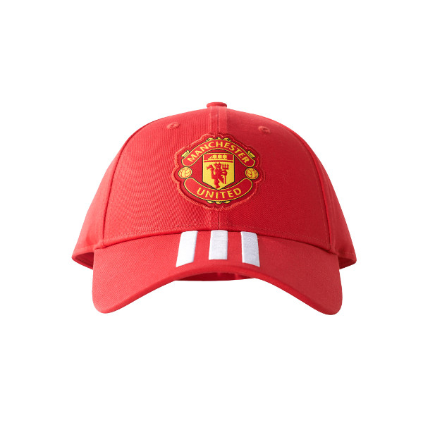 adidas Manchester United 3 Stripe Hat - Red  6bbba2e90c50