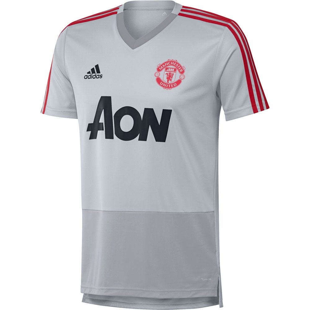 42a5ad2ca adidas Manchester United FC Training Jersey - Grey/Blaze Red ...