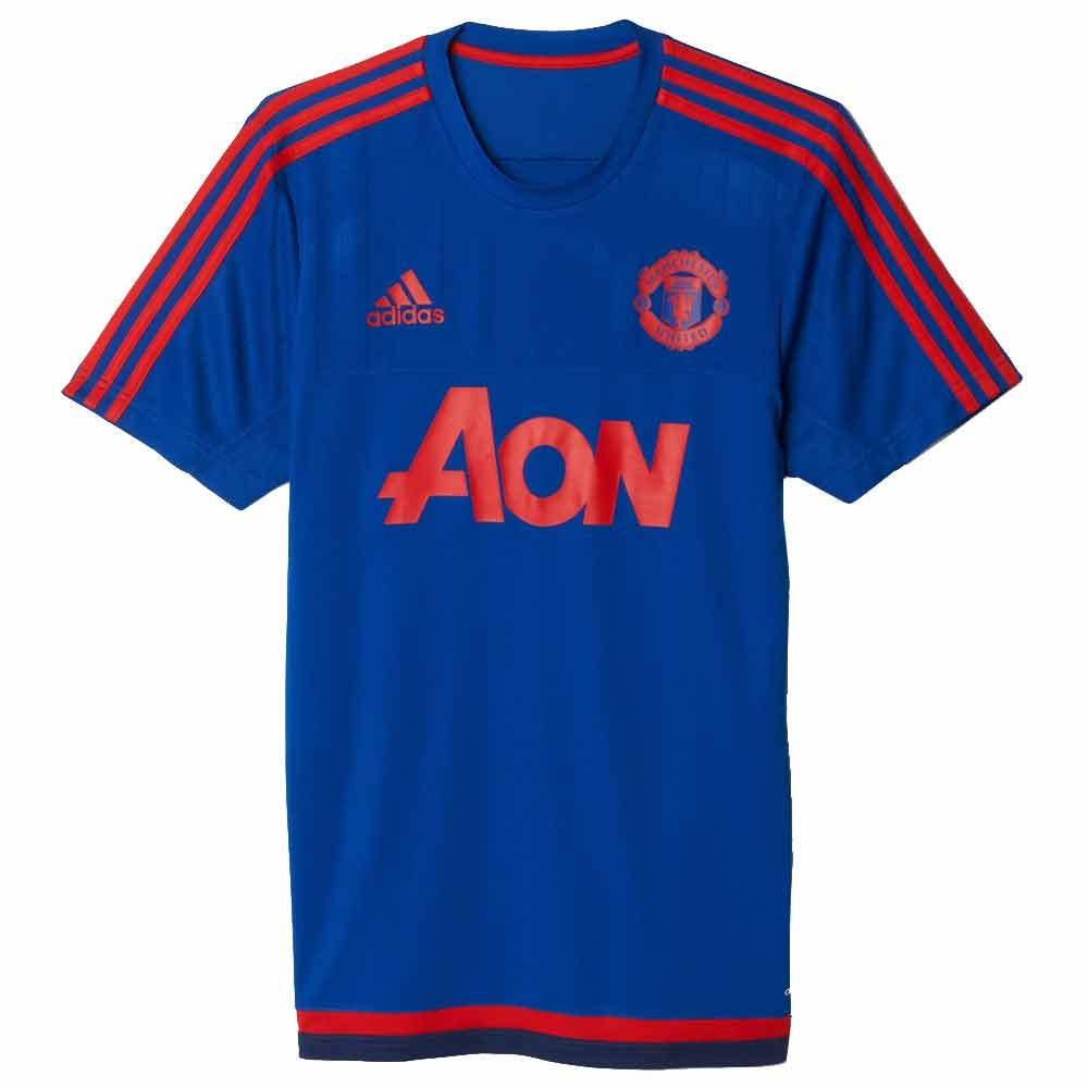 afbd9ac1 adidas Manchester United Training Top Mens - Navy/Red   Soccer ...