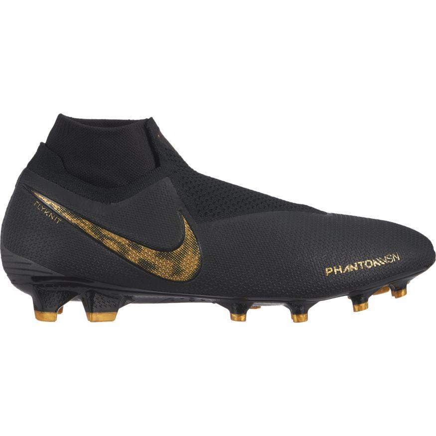 48ff12d4d Nike Phantom Vision Elite Dynamic Fit FG Soccer Cleat - Black Metallic  Vivid Gold