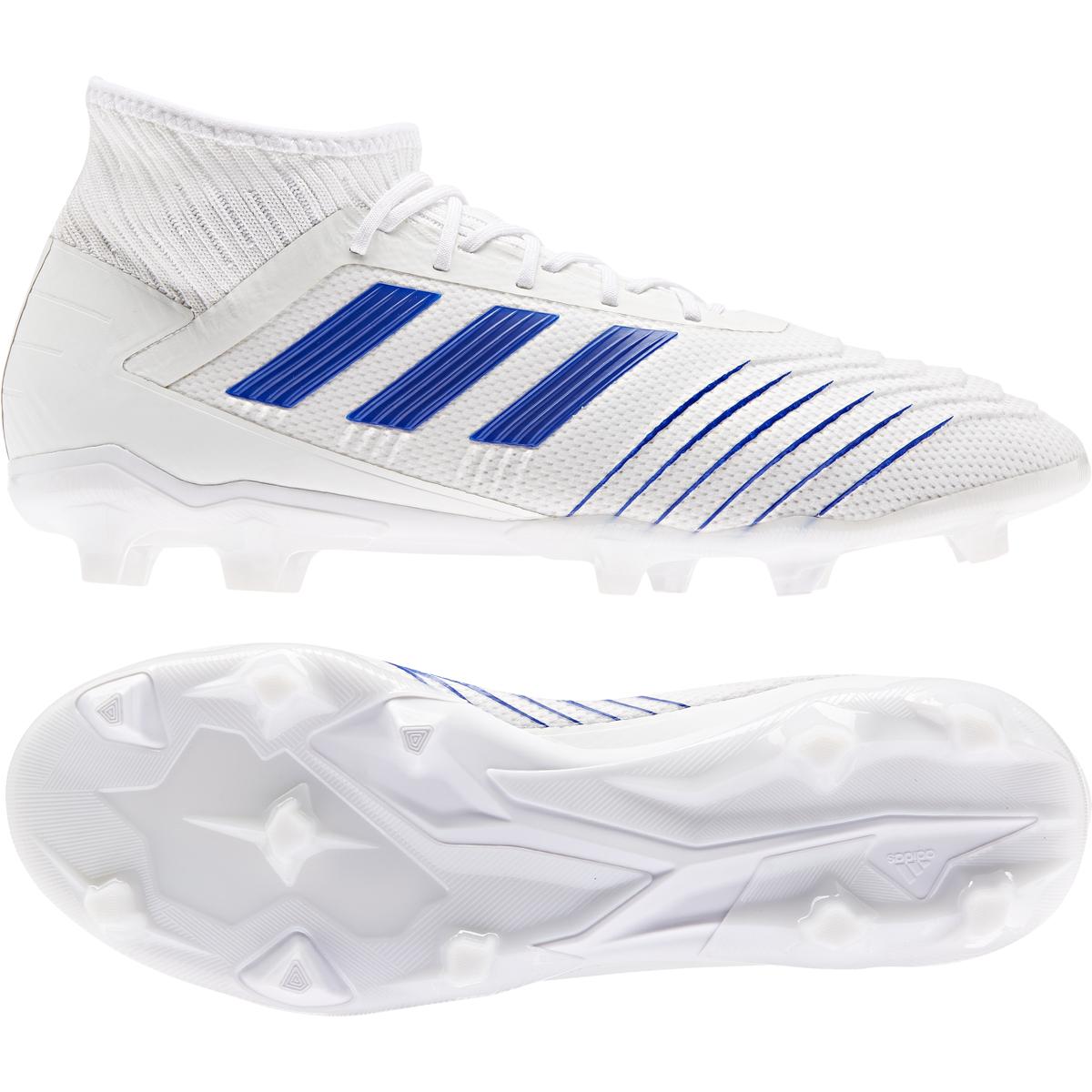 3d579ea376e adidas Predator 19.2 FG Soccer Cleat- White Bold Blue. Sale!