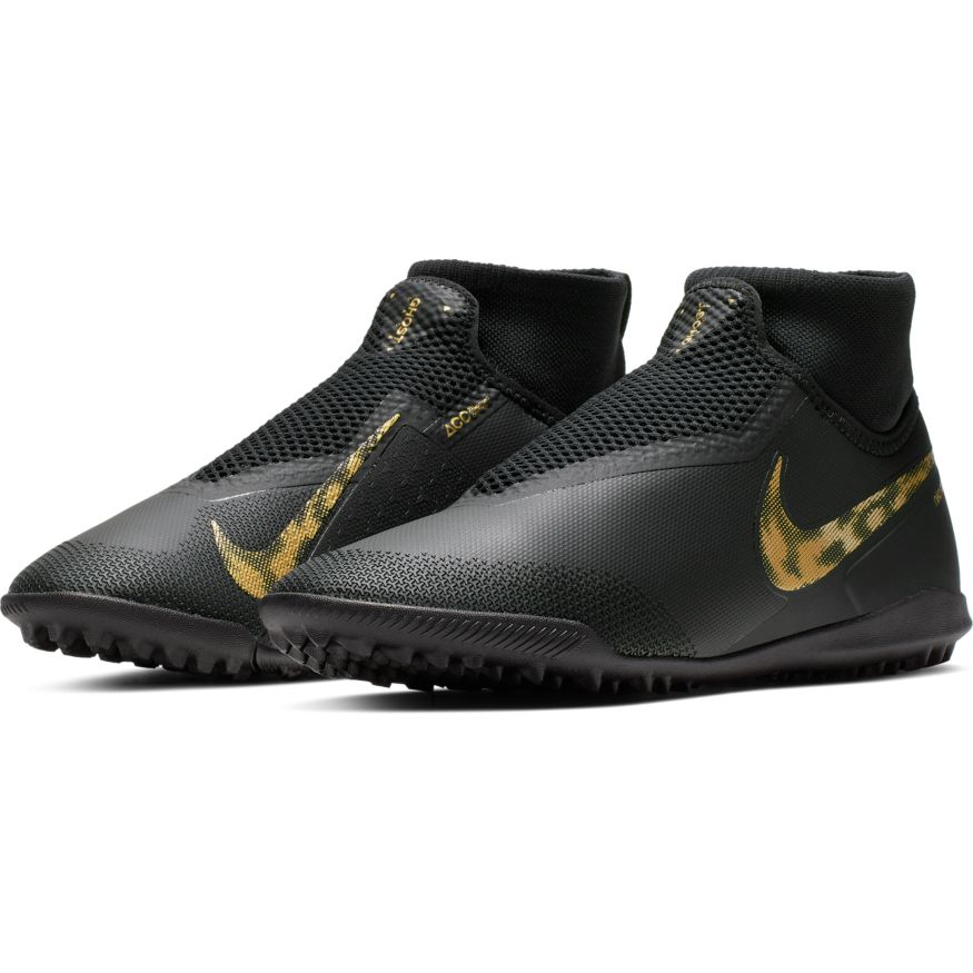 7c33ea953bad Nike React Phantom VSN Pro DF TF - Black Metallic Vivid Gold ...