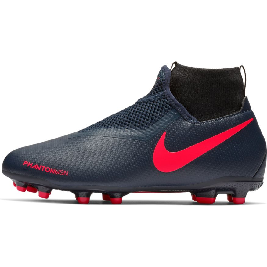 8f1e59fbf Nike Junior Phantom Vision Academy Dynamic Fit FG/MG Soccer Cleat- Obsidian/Bright  Crimson