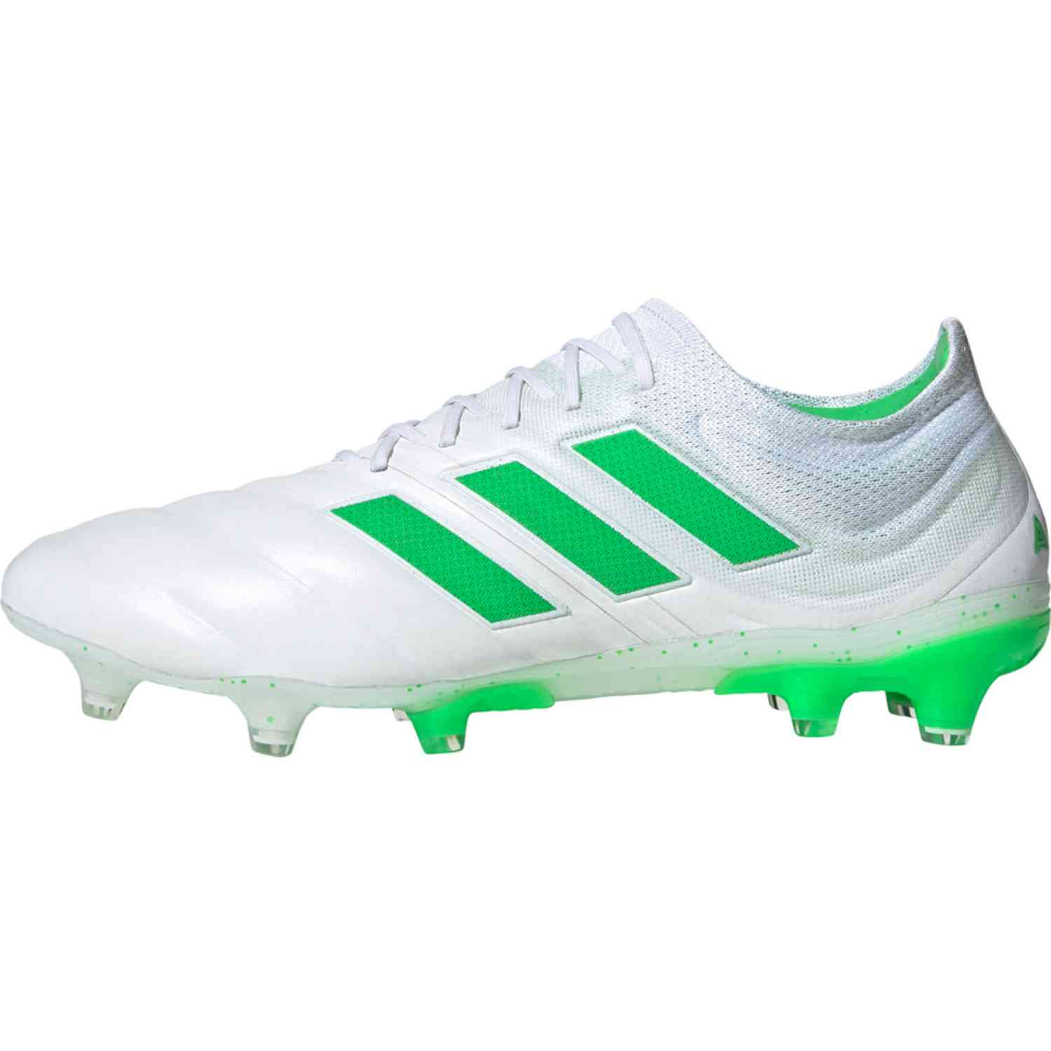 18615c3a7 adidas Copa 19.1 FG Soccer Cleat- White/Solar Lime | Soccer ...