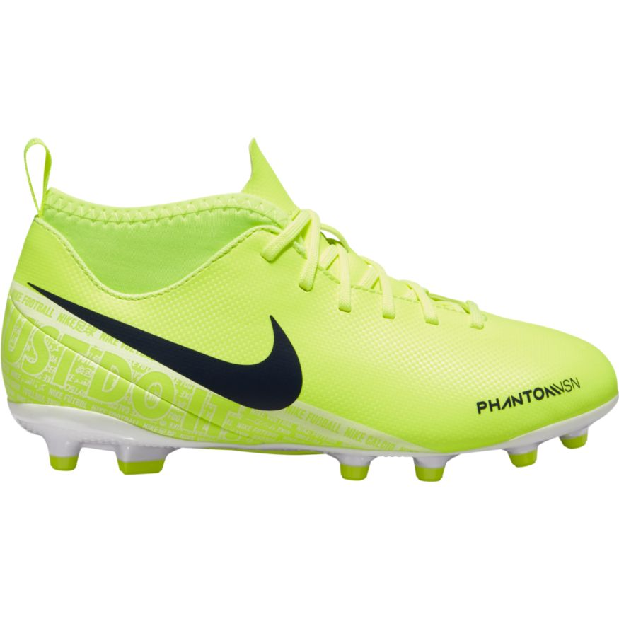 19aad12bb6a Nike Jr Phantom VSN Club DF FG/MG Soccer Cleat- Volt/Obsidian-White-Barely  Volt