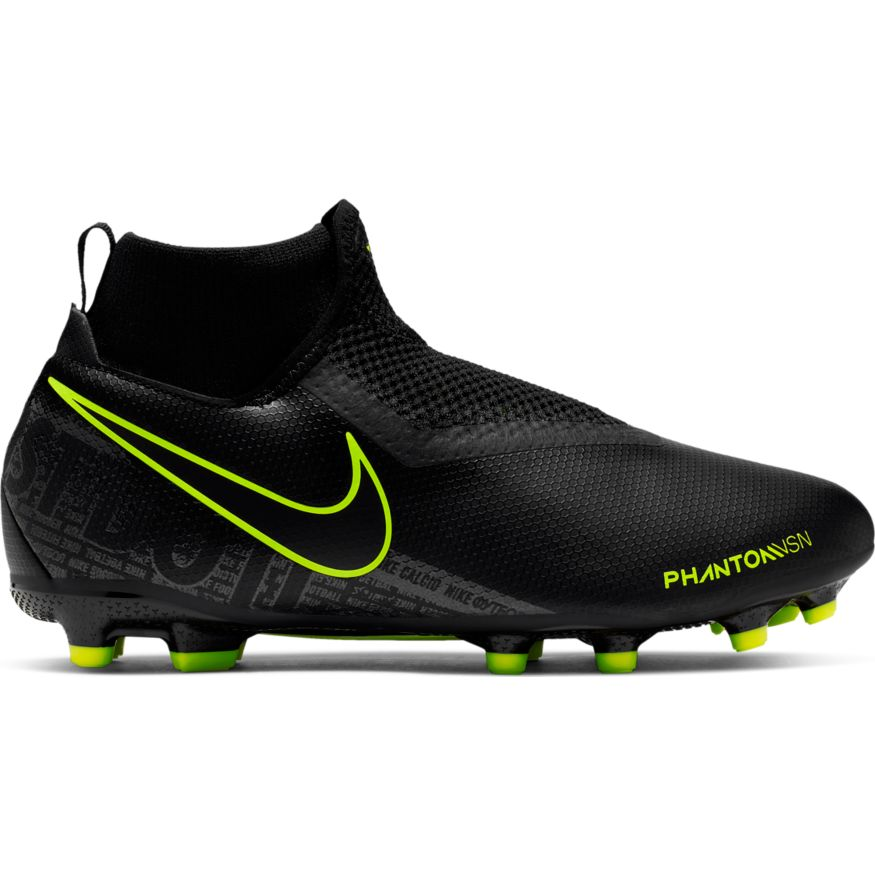 low priced 9d82d abdbf Nike Junior Phantom Vision Academy Dynamic Fit FG/MG Soccer Cleat-  Black/Volt
