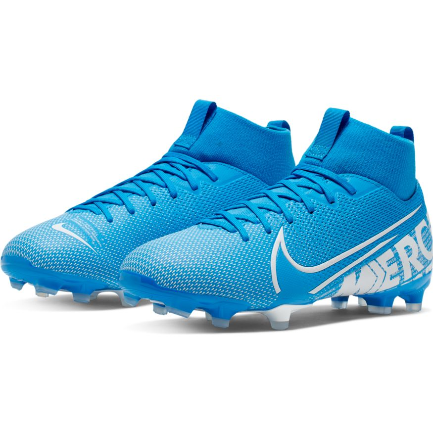 online store 374cf 4bae1 Nike Jr Superfly 7 Academy FG/MG Soccer Cleat- Blue Hero/White-Obsidian
