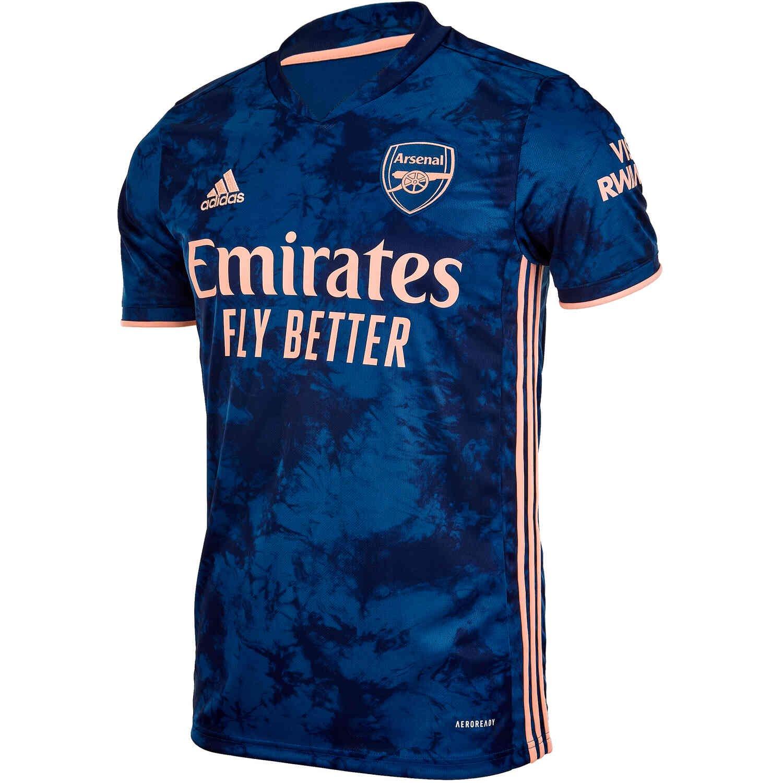 adidas Arsenal FC Third Jersey - Legend Marine/Light Flash Orange ...